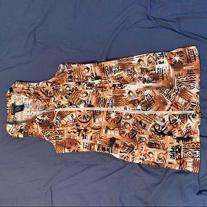 Tribal print mini dress size 11/12